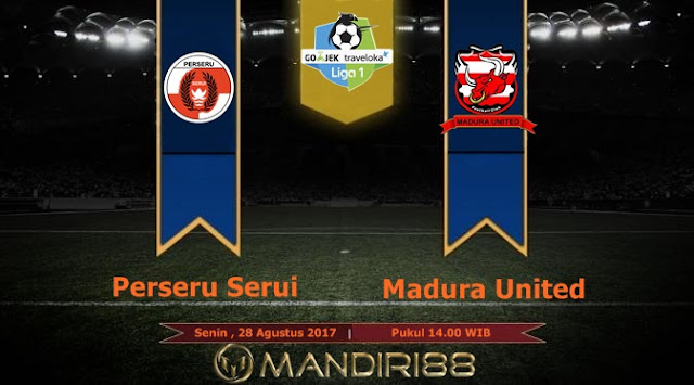 Madura United bertekad membawa pulang tiga poin ketika dijamu Perseru Serui pada pekan ke Berita Terhangat Prediksi Bola : Perseru Serui Vs Madura United , Senin 28 Agustus 2017 Pukul 14.00 WIB