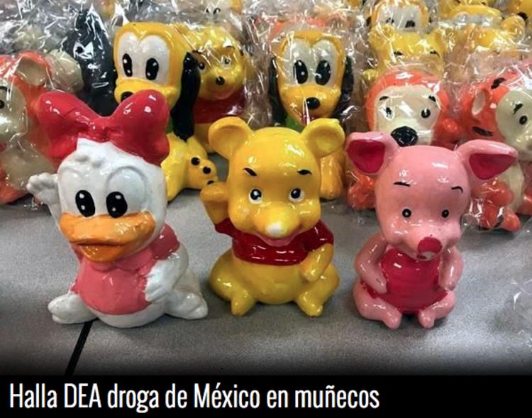Asegura la DEA al  narco dos millones de dolares en droga  oculta en figuras de cerámica  de Disney