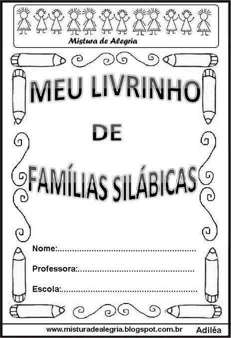 Livro Das Familias Silabicas Imprimir Mundinho Da Crianca