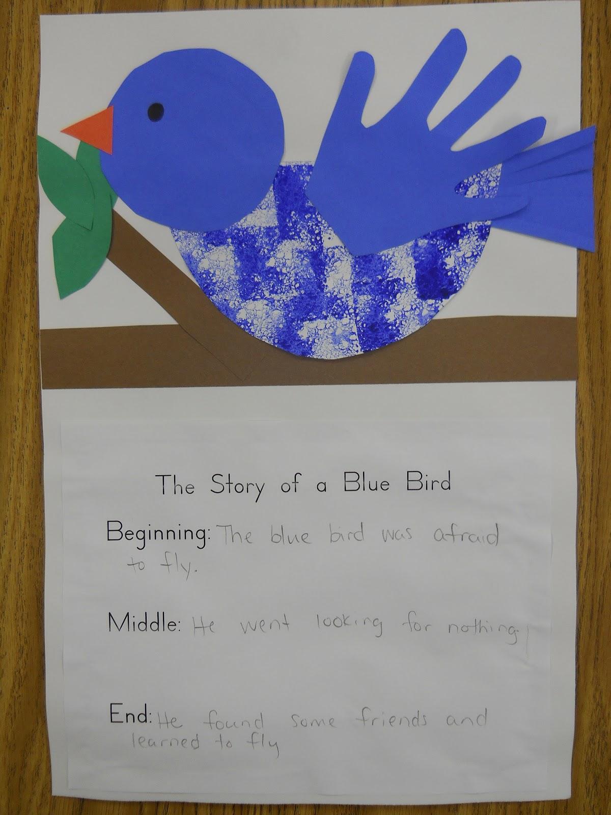 Mrs T S First Grade Class The Story Of A Blue Bird