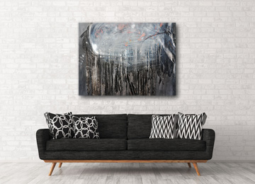 contemporary art, black and white, modern art, large wall art, landscape, urban art, Sam Freek, artwork, artist,