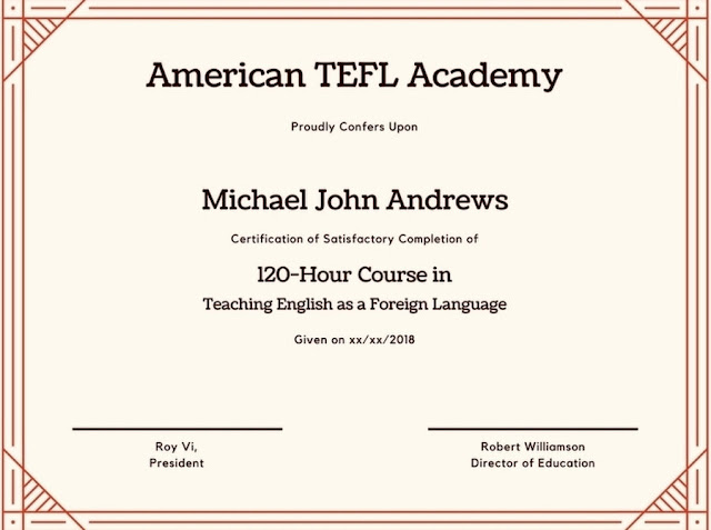 120-Hours TEFL Certification Course Discount