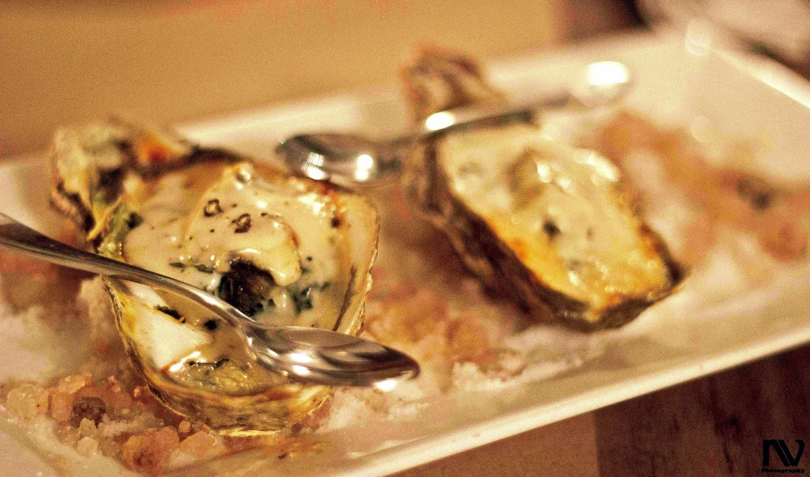 Oysters with Spinach, Cheese and Paprika