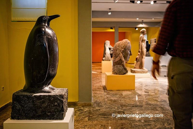 Pingüino. Museo Mateo Hernández. Localidad de Béjar. Sierra de Béjar. Salamanca. Castilla y León. España.© Javier Prieto Gallego