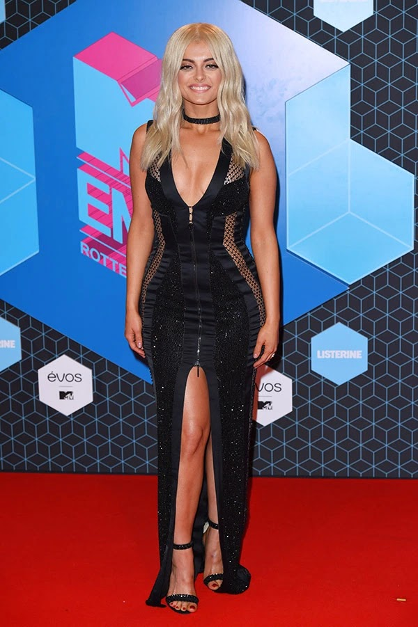Bebe Rexha attends the MTV Europe Music Awards