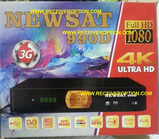 NEWSAT 990D HD RECEIVER POWERVU KEY OPTION