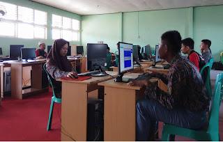 Ujian Praktik Administrasi Sistem Jaringan Siswa TKJ SMK Negeri 1 Biau