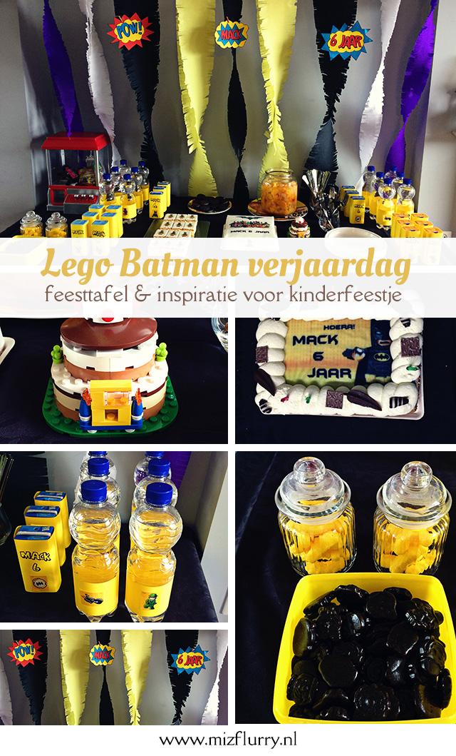 Zo organiseer je een Lego Batman verjaardag en kinderfeestje. Ideeën voor de feesttafel, versieringen, taart, hapjes en spelletjes.