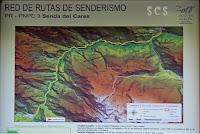 Mapa de la Ruta del Cares by Susana Cabeza