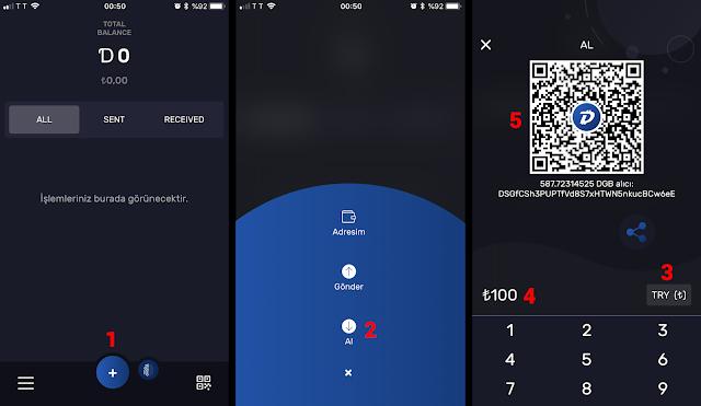 DigiByte cüzdan ile ödeme alma