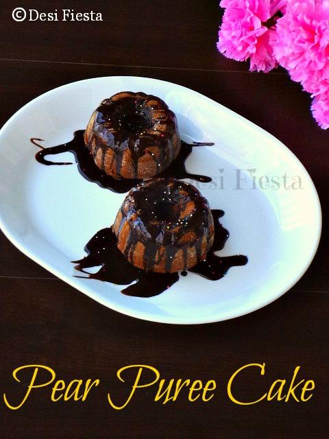 Pear Puree Cake Vegan Version Desi Fiesta