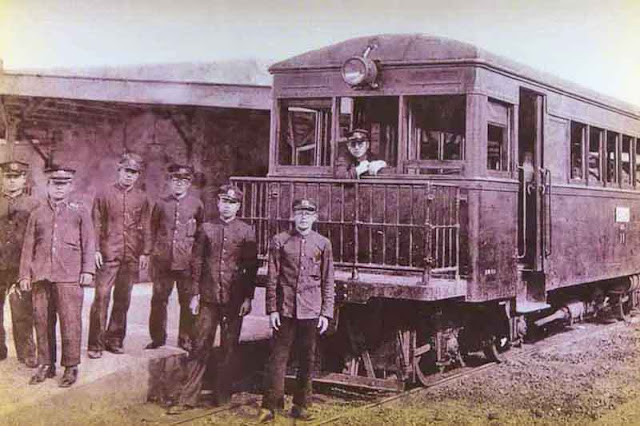 conductors, history, museum train, uniforms, Yonabaru, Okinawa