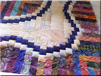 Machine Quilting Class Free Motion Feather Pattern Workshop Sample by Sally Terry