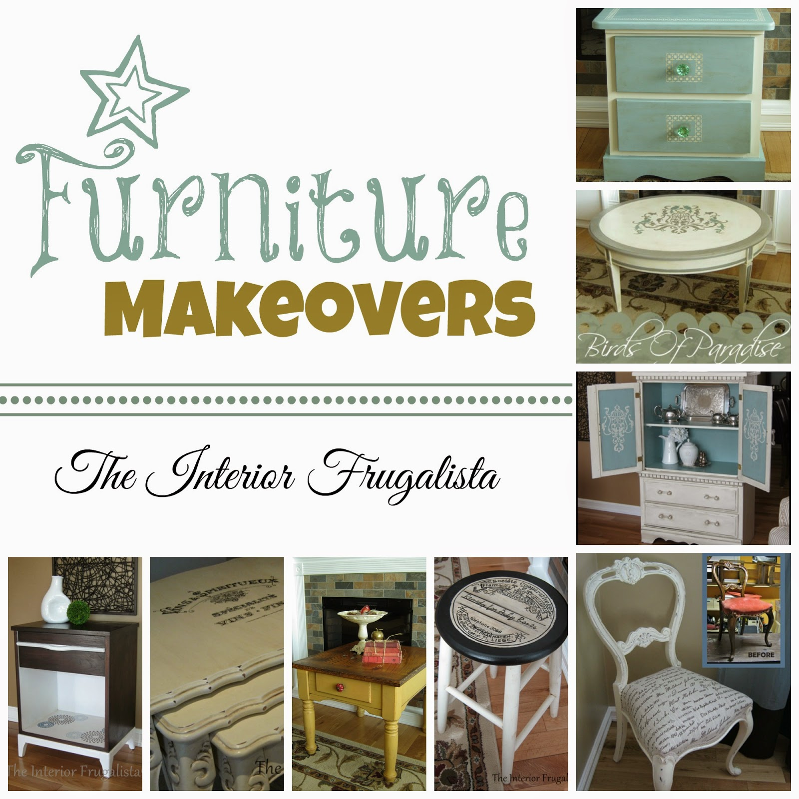 Touring Through Blogland a collage of furniture makeovers