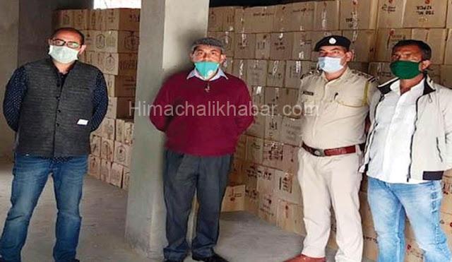 हिमाचल पुलिस ने पकड़ा शराब का जखीरा, गोदाम से 1786 पेटियां बरामद
