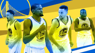 Klay Thompson, Kevin Durant, Stephen Curry, Draymond Green