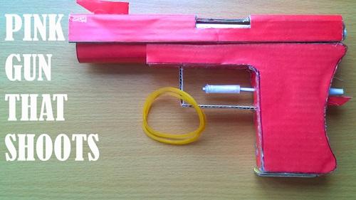 Cách làm súng giấy Glock18 bắn đạn chun