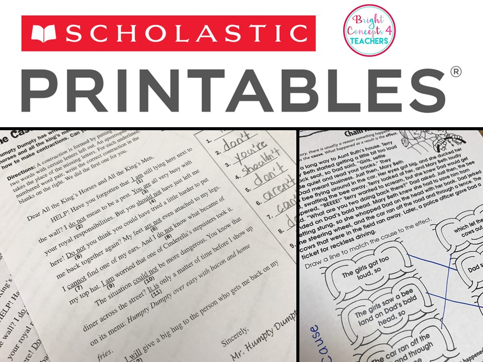 Thanksgiving Printables | Scholastic