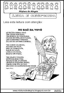 Leitura no baú da vovó
