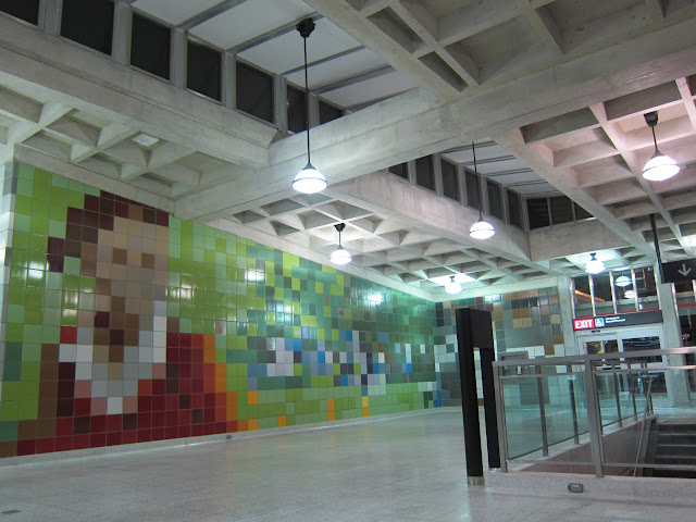 Something Happens Here, public art at Dufferin Station