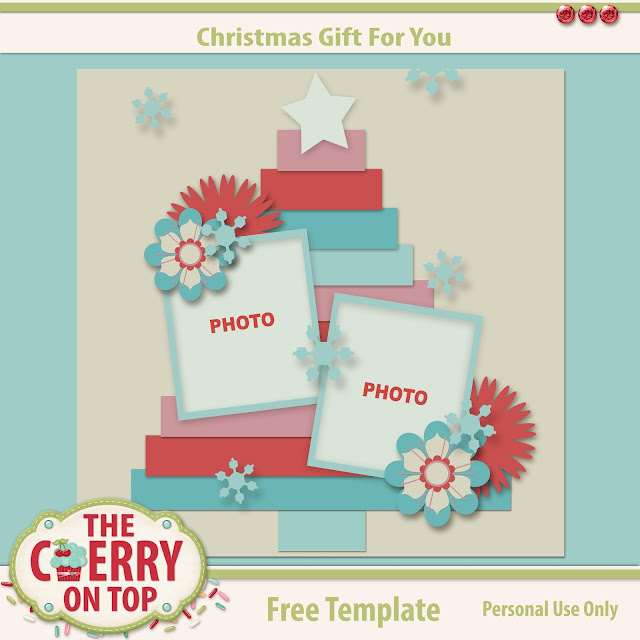 Free Christmas Tree Template from The Cherry On Top
