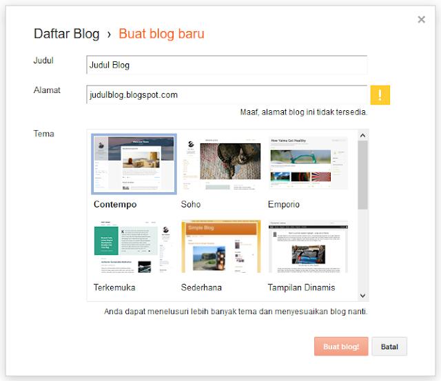 Cara blog di internet