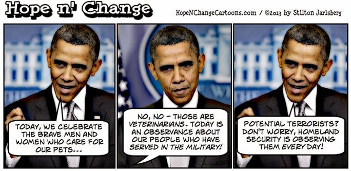 obama, obama jokes, cartoon, conservative, tea party, stilton jarlsberg, hope and change, hope n' change, veterans day, potential, terrorists