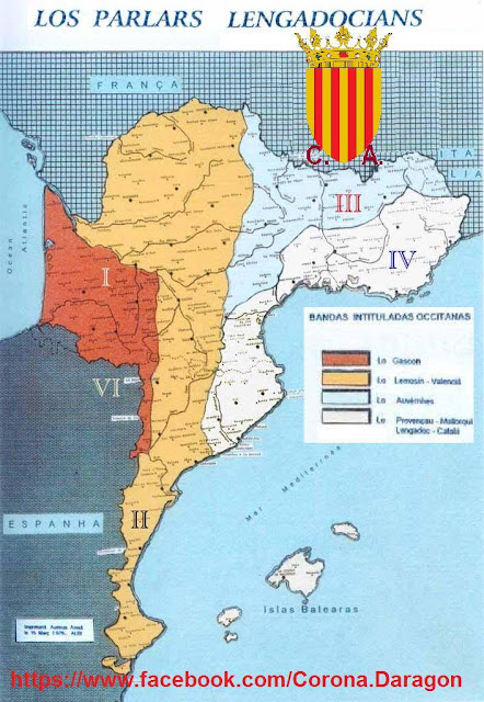 Lenguas en la Corona de Aragón, occitan, los parlars lenguadocians