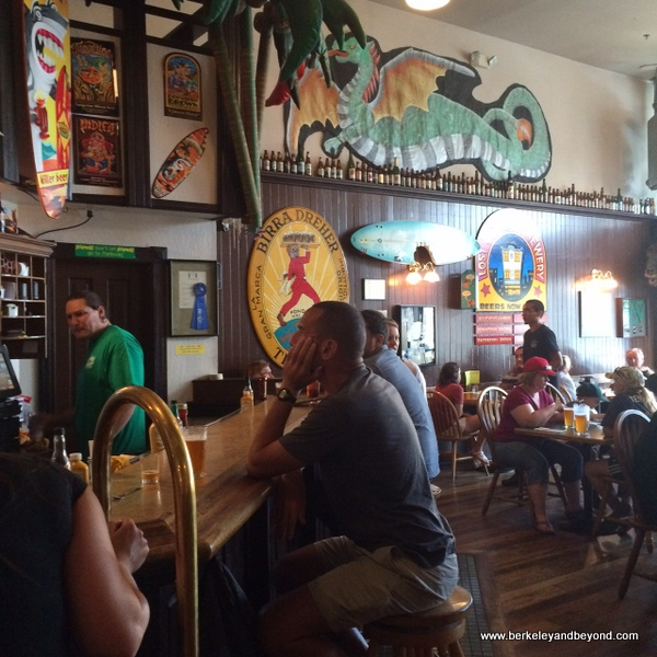 interior of Lost Coast Brewery & Cafe in Eureka, California