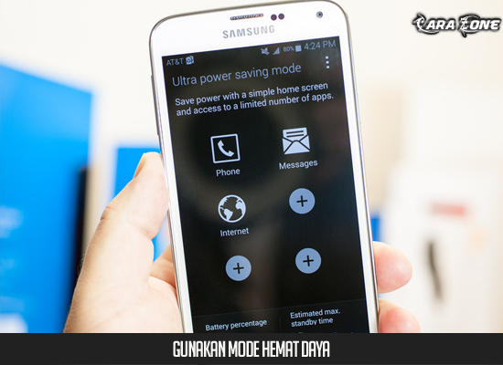 Gunakan mode hemat daya Galaxy S5 Anda