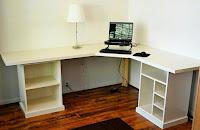 muebles de madera esquineros para la oficina - escritorios en L 15