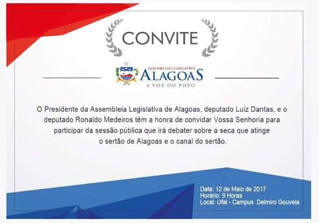 Assembleia Legislativa realiza sessão pública em Delmiro Gouveia sobre seca e Canal do Sertão
