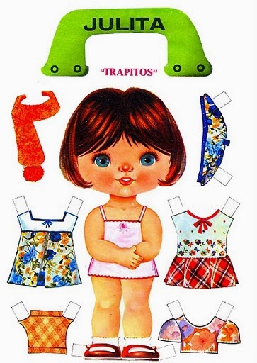 Bonecas de Papel, Paper Dolls, Muñecas Recortables