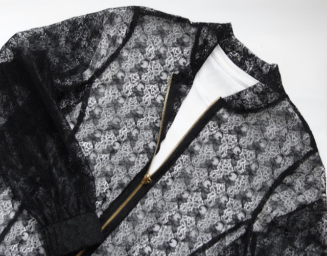 transparetna bluza koronkowa