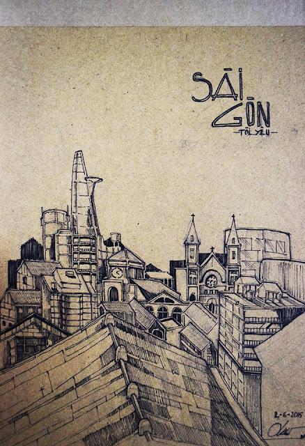 kí họa của sinh viên kiến trúc, kí họa phong cảnh, diễn họa kiến trúc