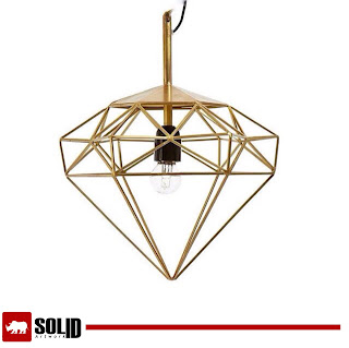 diamond cage pendant lamp