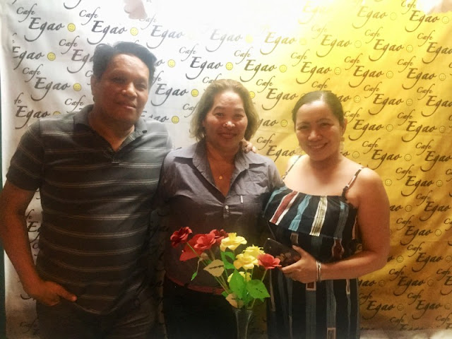 With Maam Tess, one of the owners of Cafe Egao