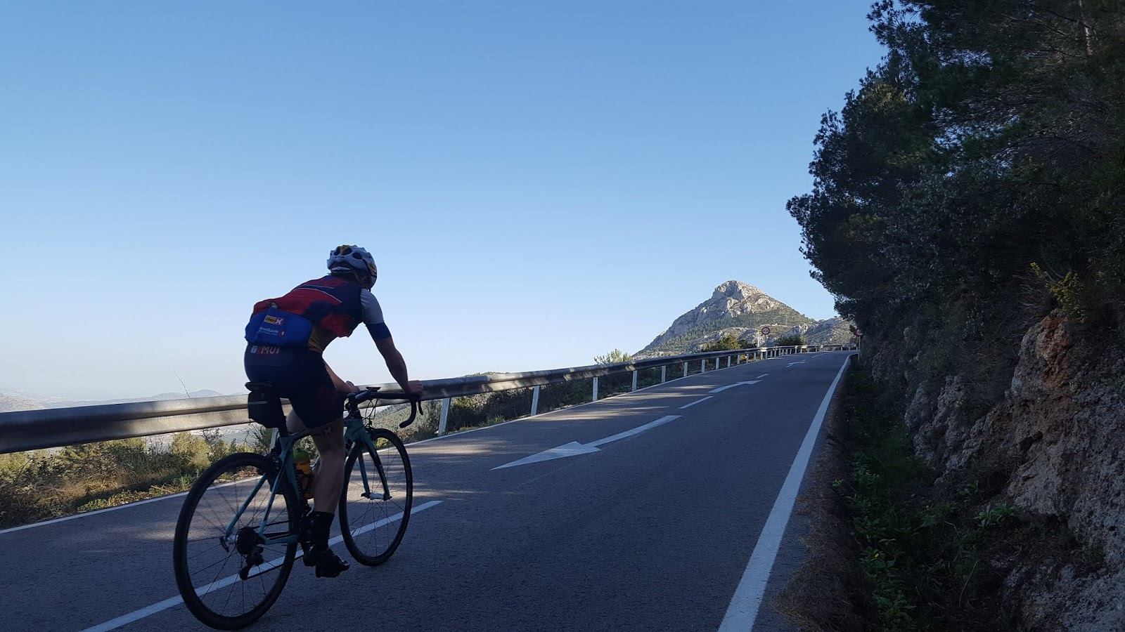 Final stretch of Coll de Rates along mountainside