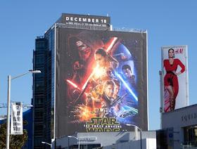 Star Wars Force Awakens movie billboard
