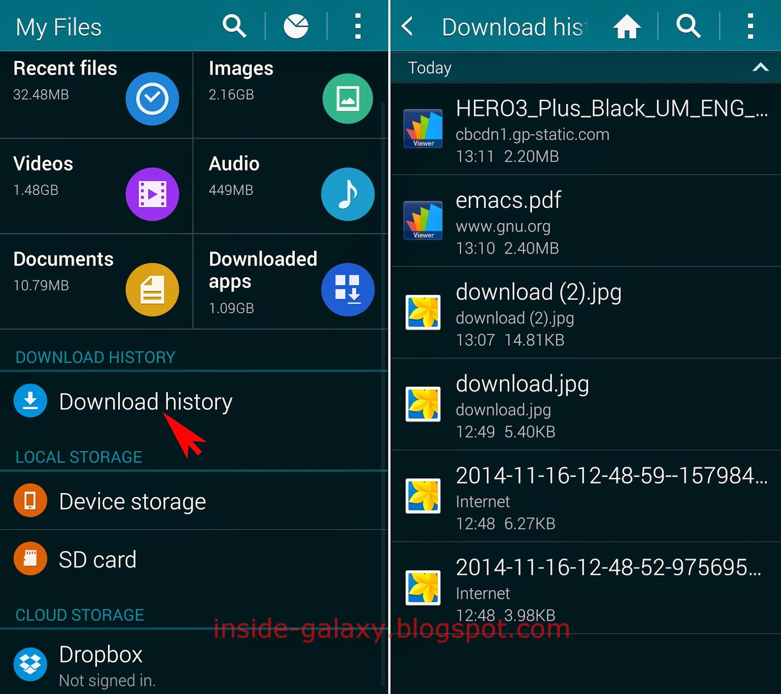 Samsung Galaxy S5: How to View and Clear Download History in