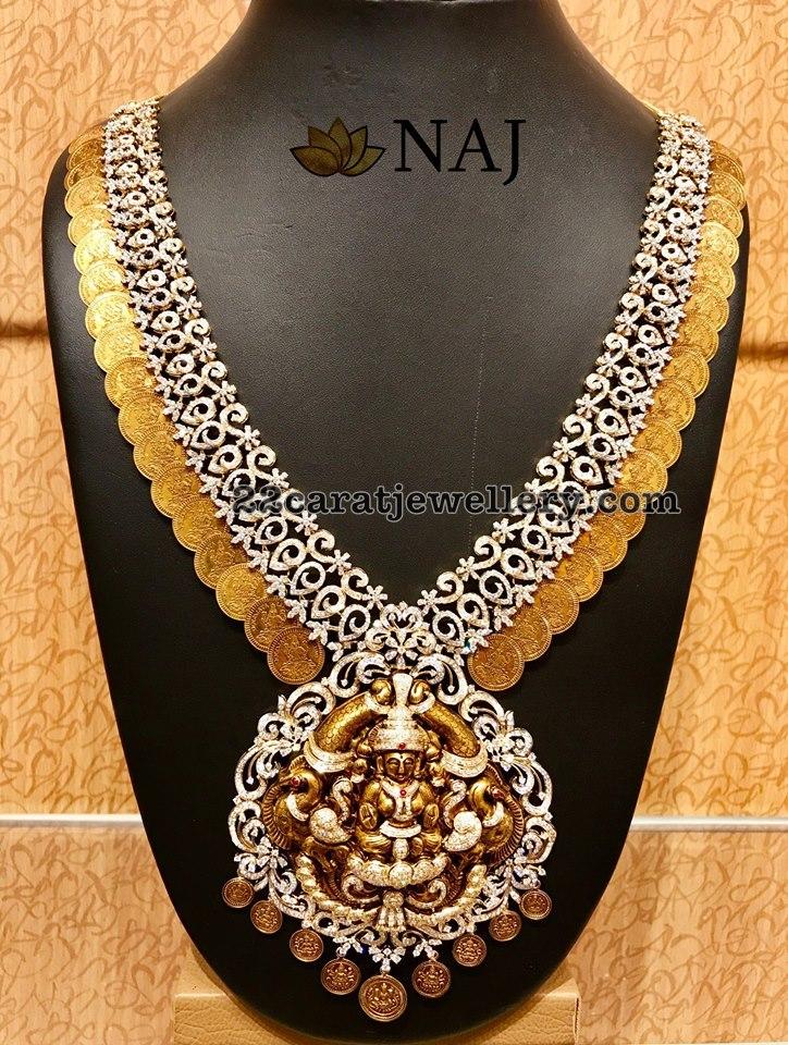 Diamond Kasu Mala By Naj Jewellery Designs