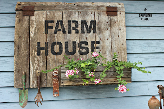 Farmhouse Barn Door Sign/Planter organizedclutter.net