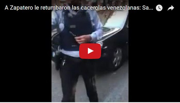 Cacerolazo de venezolanos a Rodriguez Zapatero en España