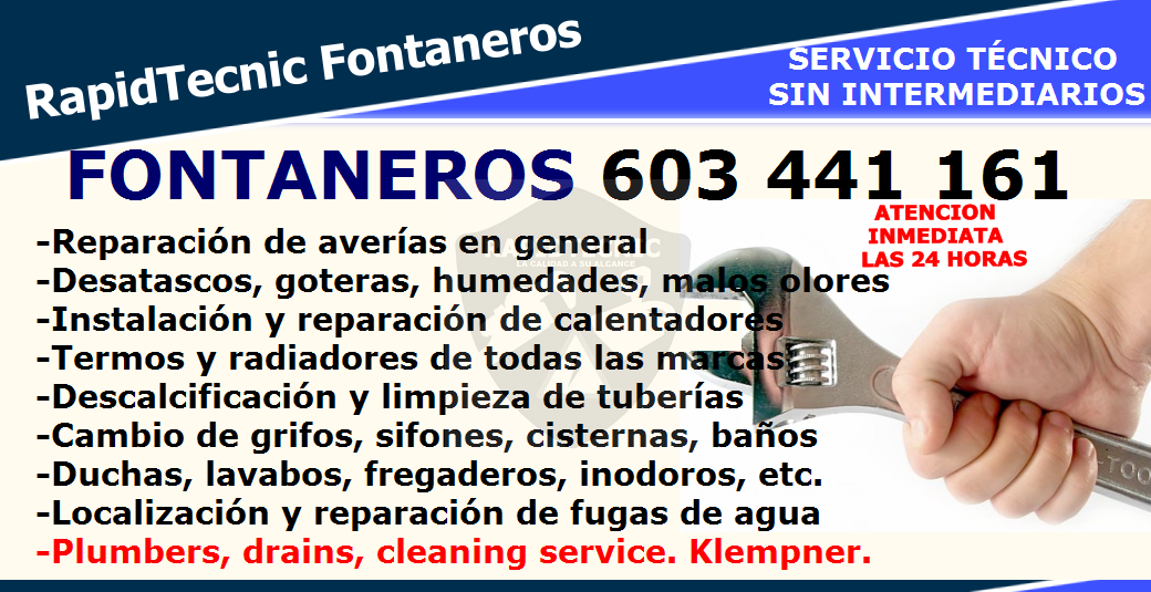 Rapidtecnic fontaneros chantrea pamplona 603 441 161 - Fontaneros en pamplona ...