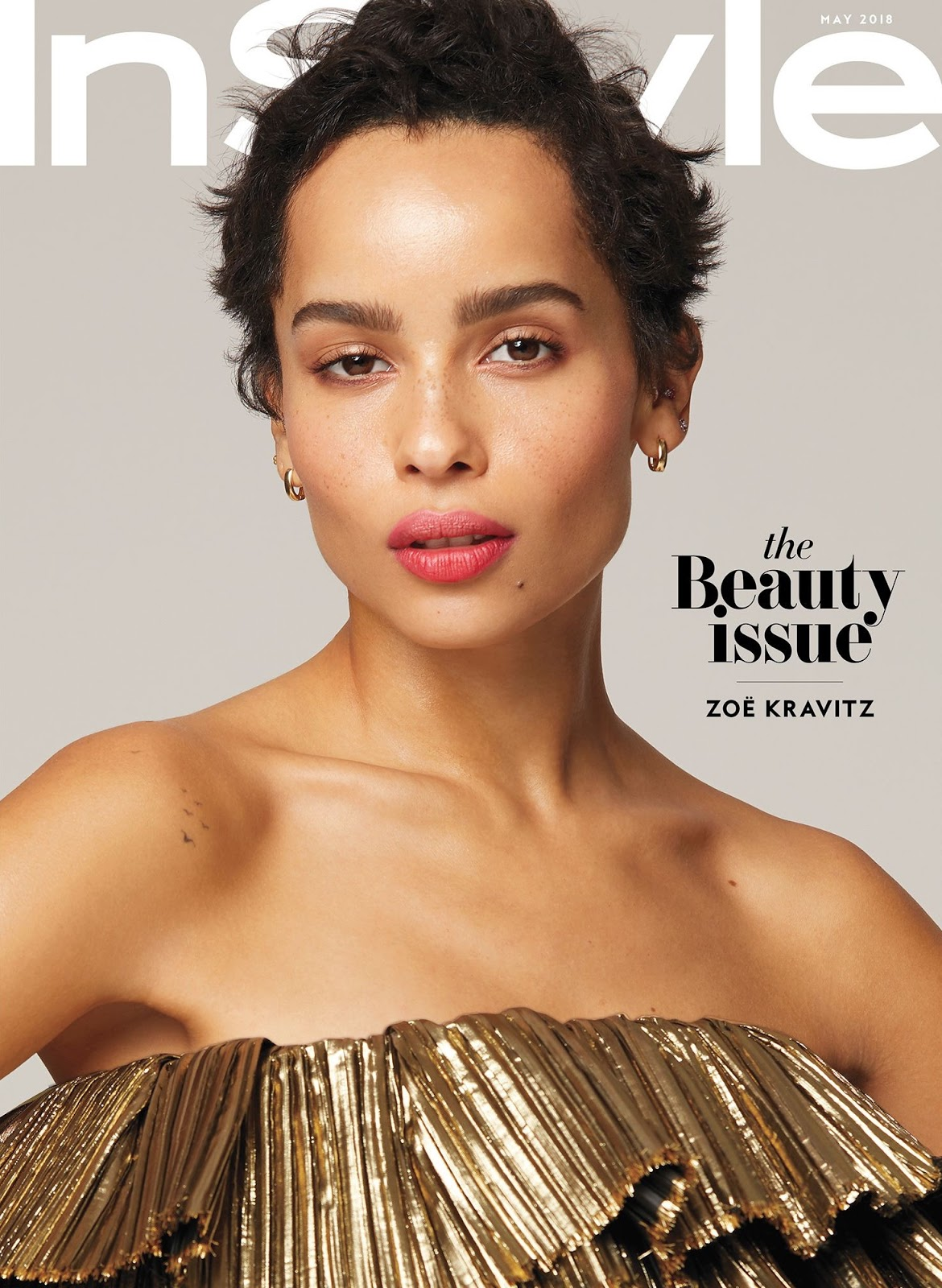 Zoe Kravitz on the May 2018 Cover of InStyle Magazine