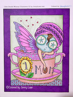 chibi number one mom fairy coloring page by JennyLuanArt