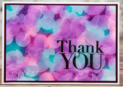 Bokeh Effect Background Thank You Card made using supplies from Stampin' Up! UK - available here