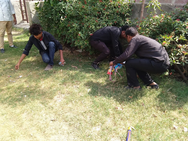 ​Liquor House conducts a cleanliness drive at Angel Mall