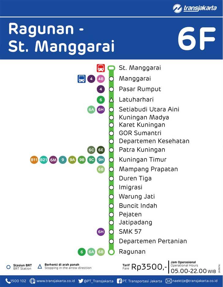 rute transjakarta ragunan stasiun manggarai