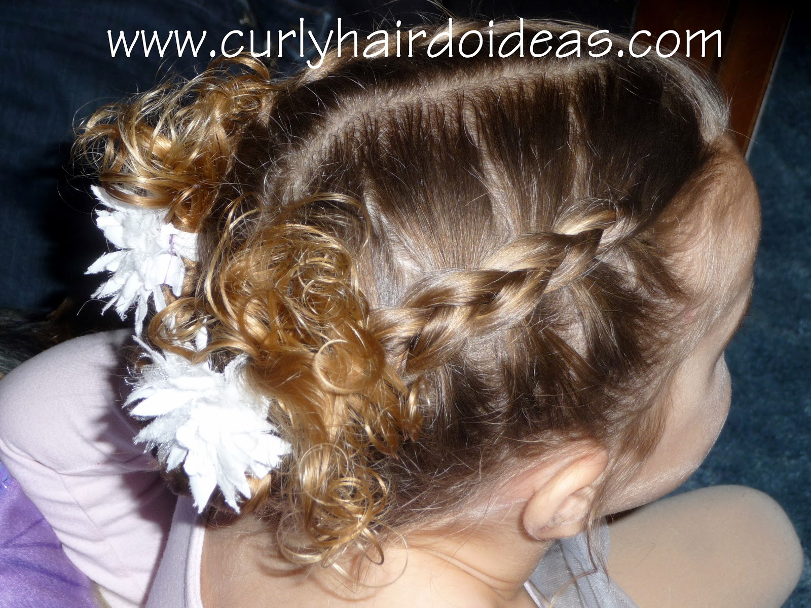 Hair Styles For A Dance: Curly Hairdo Ideas: Toddler Dance Hairstyle